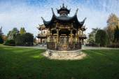 Chinese house in Brussels — Stock Photo