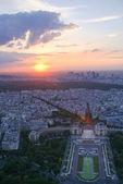 View of Paris at sunset — Stock Photo
