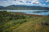 Mountains and Lake Prespa — Stock Photo