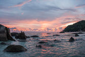 Sunsets and sunrises at Cristal Bay — Stock Photo