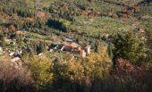 Mystras 拜占庭城堡镇的废墟 — 图库照片