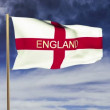 England flag with title waving in the wind. Looping sun rises style. Animation loop — Stock Video #70041479
