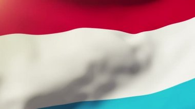 Luxembourg flag waving in the wind. Looping sun rises style.  Animation loop — Stock Video