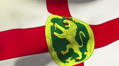 Alderney flag waving in the wind. Looping sun rises style.  Animation loop — Stock Video