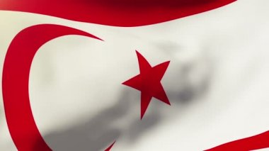 North Cyprus flag waving in the wind. Looping sun rises style.  Animation loop — Stock Video