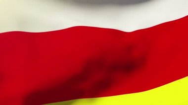 North Ossetia flag waving in the wind. Looping sun rises style.  Animation loop — 图库视频影像