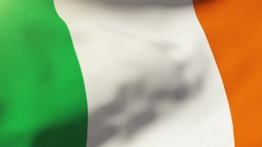 Ireland flag waving in the wind. Looping sun rises style.  Animation loop — Stock Video