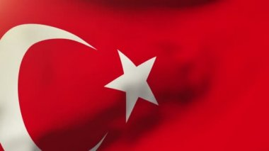 Turkey flag waving in the wind. Looping sun rises style.  Animation loop — Stock Video