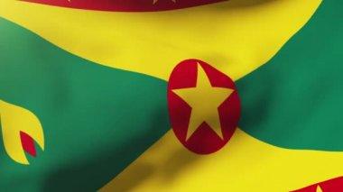 Grenada flag waving in the wind. Looping sun rises style.  Animation loop — Stock Video