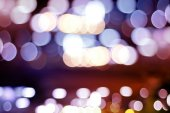Defocused city night bokeh abstract background. — Stock Photo