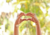 The children's Hand make a heart.  — Stock Photo