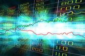 Visualización de cotizaciones del mercado en movimiento azul desenfoque Resumen nuevo — Foto de Stock