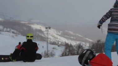 Mountain ski — Stock Video