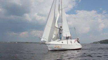 Sailing regatta — Stock Video