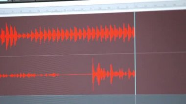 Music and voice recording — Stockvideo