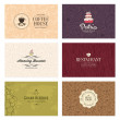 Cafe and restaurant cards set — Stock Vector #62891711