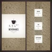 Restaurang eller kaffe hus-menyn — Stockvektor