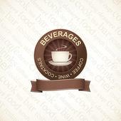 Beverages logo for menu — Stock Vector