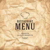 Restaurang meny design — Stockvektor