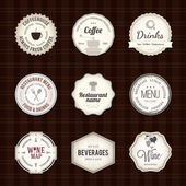Label set for restaurant — Stockvector