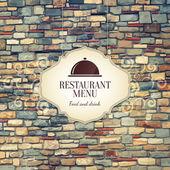 レストラン メニュー デザイン — ストックベクタ