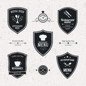 Restaurant labels set — Stock Vector