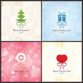 Set of holiday greeting cards — Stock Vector