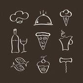 Restoran için Icons set — Stok Vektör