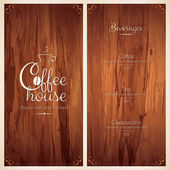 Menu for  coffee house — Wektor stockowy