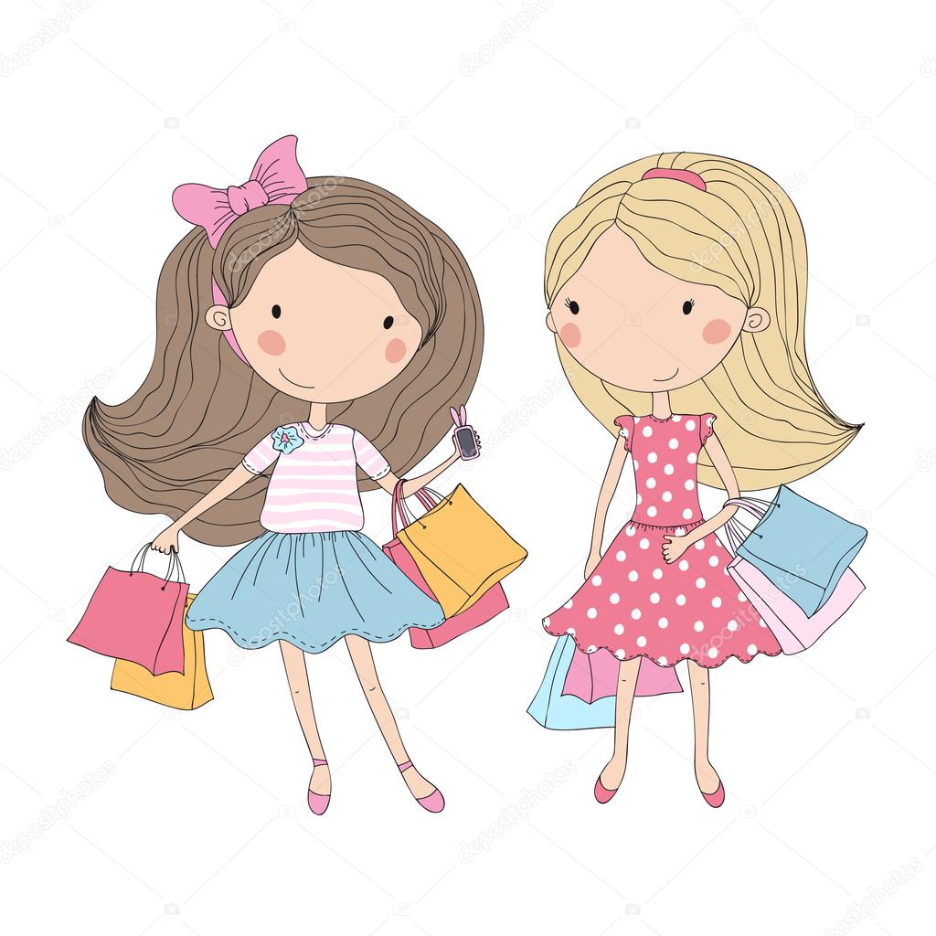 dibujos animados chica en chica