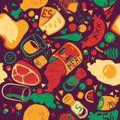 Food pattern — Stock Vector