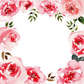 Roses watercolor. — Stock Vector