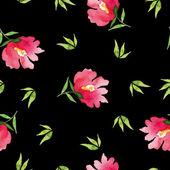 Naadloze patroon aquarel bloemen — Stockvector