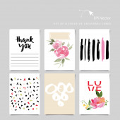 Creative universal card — Vecteur