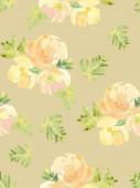 Watercolor flower pattern — Stock Vector