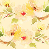 Greeting card. Floral background. Watercolor painting — Stock Photo