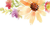 Postcard watercolor sunflowers. Wedding. Floral background. — Stock Photo
