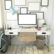 Hipster Workplace with computer — Stock Photo #66385419