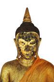 Isolated face of budddha — Stockfoto