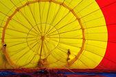 Hot-air balloon fabric texture — Stock Photo