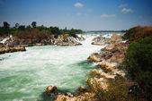 Greatest waterfall in Laos — Stock Photo