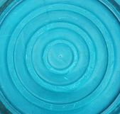 Blue plastic washbowl — Stock Photo
