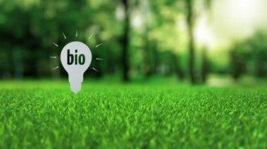 Biyo kağıt lamba ekoloji kavramı — Stok video