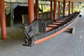 Waka ancient maori boat — Foto de Stock