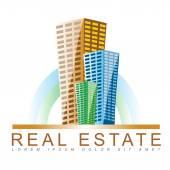 Real estate agency logo — Stock Vector