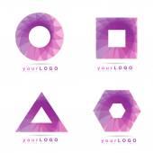 Geometric logo element icon — Stock Vector