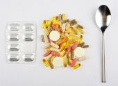 Food supplements or pills meal — Stock Photo