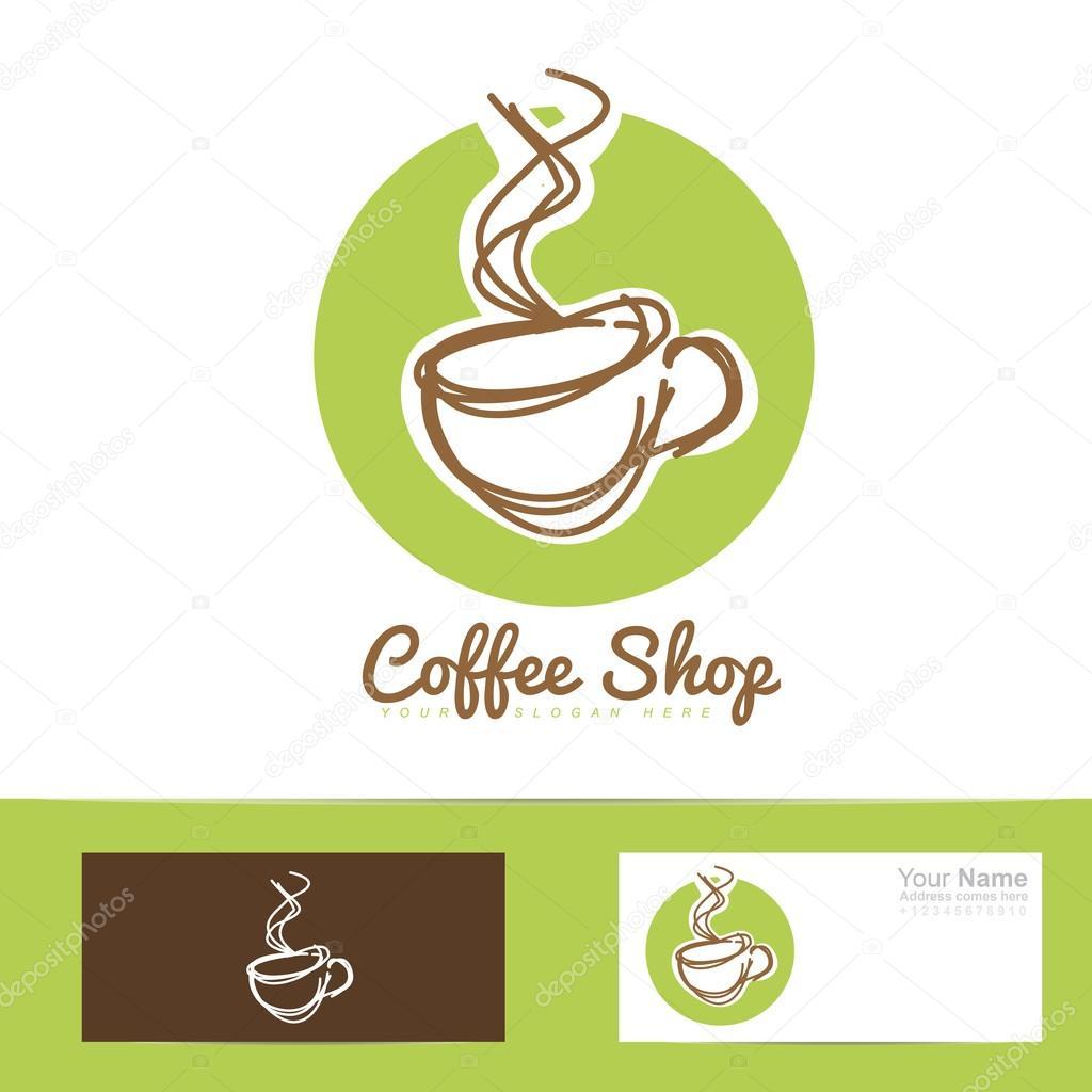 Tasse de caf restaurant main stylis e dessin logo image vectorielle 73189007 - Tasse de cafe dessin ...
