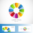 Circle flower colored logo — Stock Vector #76231973