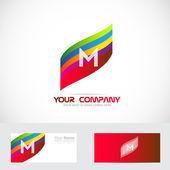 Letter M logo — Stock Vector